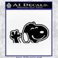 SNOOPY WAVING THE PEANUTS VINYL DECAL STICKER Black Logo Emblem 120x120