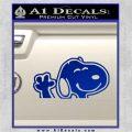 SNOOPY WAVING THE PEANUTS VINYL DECAL STICKER Blue Vinyl 120x120