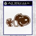 SNOOPY WAVING THE PEANUTS VINYL DECAL STICKER Brown Vinyl 120x120