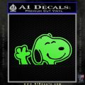 SNOOPY WAVING THE PEANUTS VINYL DECAL STICKER Lime Green Vinyl 120x120