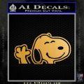 SNOOPY WAVING THE PEANUTS VINYL DECAL STICKER Metallic Gold Vinyl Vinyl 120x120
