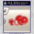 SNOOPY WAVING THE PEANUTS VINYL DECAL STICKER Red Vinyl 120x120