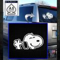 SNOOPY WAVING THE PEANUTS VINYL DECAL STICKER White Emblem 120x120