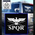 SPQR ANCIENT ROMAN MILITARY DECAL STICKER White Emblem 120x120