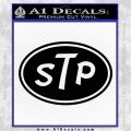 STP Vinyl Decal Sticker D1 Black Logo Emblem 120x120