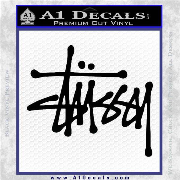 Stussy clothing logo vinyl decal sticker black logo emblem
