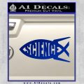 Science Jesus Fish Decal Sticker Blue Vinyl 120x120