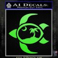 Sea Turtle Palmetto Palm Tree Moon Decal Sticker Lime Green Vinyl 120x120