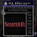Semper Fi TXT Decal Sticker Pink Vinyl Emblem 120x120