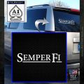 Semper Fi TXT Decal Sticker White Emblem 120x120