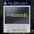 Semper Fi TXT Decal Sticker Yelllow Vinyl 120x120