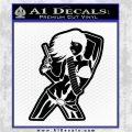 Sexy Gun Girl Bikini Decal Sticker Black Logo Emblem 120x120