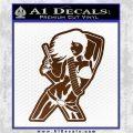 Sexy Gun Girl Bikini Decal Sticker Brown Vinyl 120x120