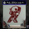 Sexy Gun Girl Bikini Decal Sticker Dark Red Vinyl 120x120