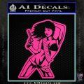 Sexy Gun Girl Bikini Decal Sticker Hot Pink Vinyl 120x120
