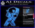 Sexy Gun Girl Bikini Decal Sticker Light Blue Vinyl 120x97