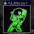 Sexy Gun Girl Bikini Decal Sticker Lime Green Vinyl 120x120