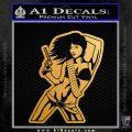 Sexy Gun Girl Bikini Decal Sticker Metallic Gold Vinyl Vinyl 120x120