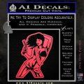 Sexy Gun Girl Bikini Decal Sticker Pink Vinyl Emblem 120x120