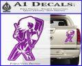 Sexy Gun Girl Bikini Decal Sticker Purple Vinyl 120x97