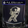 Sexy Gun Girl Bikini Decal Sticker Silver Vinyl 120x120