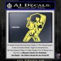 Sexy Gun Girl Bikini Decal Sticker Yelllow Vinyl 120x120