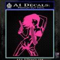 Sexy Gun Girl Revolver Decal Sticker Hot Pink Vinyl 120x120