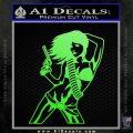 Sexy Gun Girl Revolver Decal Sticker Lime Green Vinyl 120x120