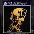 Sexy Gun Girl Revolver Decal Sticker Metallic Gold Vinyl 120x120