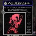 Sexy Gun Girl Revolver Decal Sticker Pink Vinyl Emblem 120x120