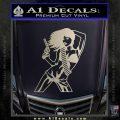Sexy Gun Girl Revolver Decal Sticker Silver Vinyl 120x120