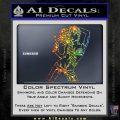 Sexy Gun Girl Revolver Decal Sticker Sparkle Glitter Vinyl 120x120
