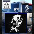 Sexy Gun Girl Revolver Decal Sticker White Emblem 120x120