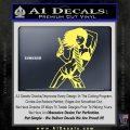 Sexy Gun Girl Revolver Decal Sticker Yelllow Vinyl 120x120