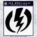Shazam Logo Decal Sticker Black Logo Emblem 120x120