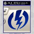 Shazam Logo Decal Sticker Blue Vinyl 120x120