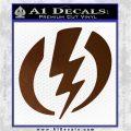Shazam Logo Decal Sticker Brown Vinyl 120x120
