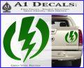 Shazam Logo Decal Sticker Green Vinyl 120x97