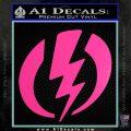 Shazam Logo Decal Sticker Hot Pink Vinyl 120x120