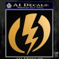 Shazam Logo Decal Sticker Metallic Gold Vinyl Vinyl 120x120