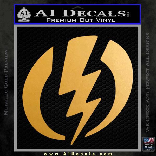 Shazam Logo Decal Sticker Metallic Gold Vinyl Vinyl
