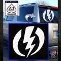 Shazam Logo Decal Sticker White Emblem 120x120