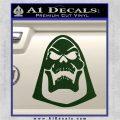 Skeletor Decal Sticker He Man D2 Dark Green Vinyl 120x120