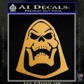 Skeletor Decal Sticker He Man D2 Metallic Gold Vinyl 120x120