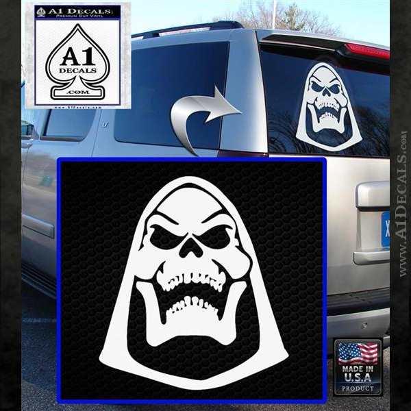 Skeletor Decal Sticker He Man D2 White Emblem
