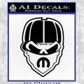 Skull Bandanna Mopar Decal Sticker Black Logo Emblem 120x120