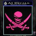 Skull and Cross Bones Decal Sticker Hot Pink Vinyl 120x120