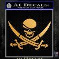 Skull and Cross Bones Decal Sticker Metallic Gold Vinyl 120x120