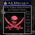 Skull and Cross Bones Decal Sticker Pink Vinyl Emblem 120x120