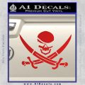 Skull and Cross Bones Decal Sticker Red Vinyl 120x120